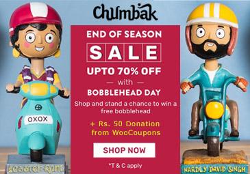 Chumbak EOSS: Shop & Get A Chance To Win Free Bobblehead